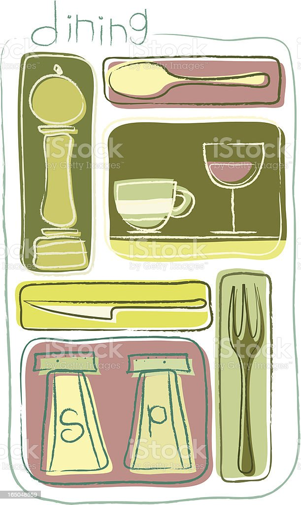 Dining Collection royalty-free stock vector art