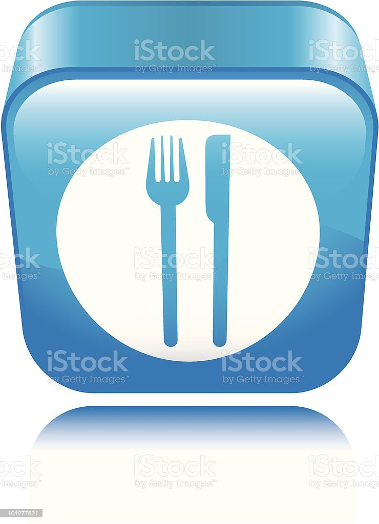 Dining Icon vector art illustration