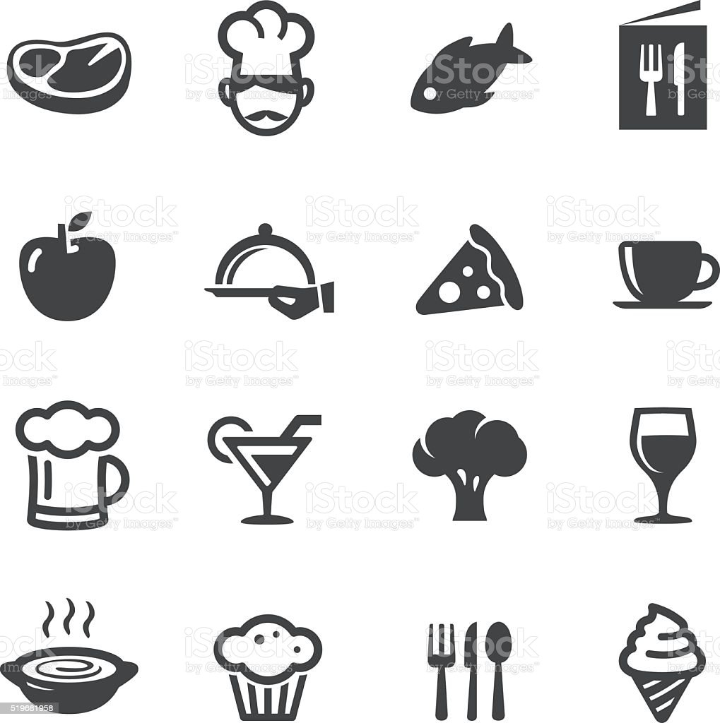 Dining Icons - Acme Series vector art illustration