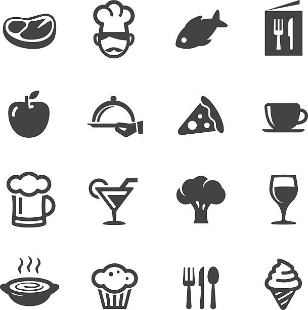 dining icons - acme series - alcohol drink silhouettes stock illustrations