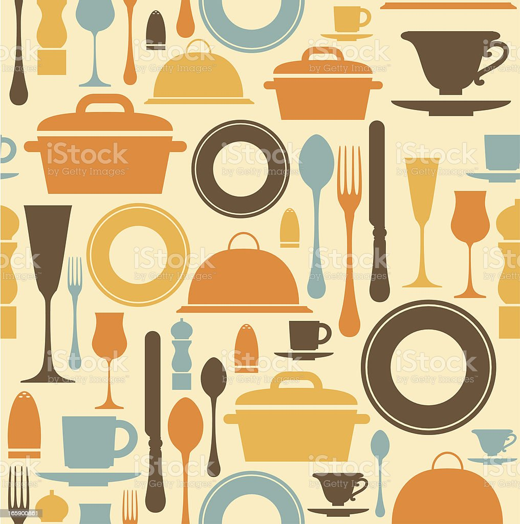 Dining Repeat Pattern royalty-free dining repeat pattern stock vector art & more images of backgrounds