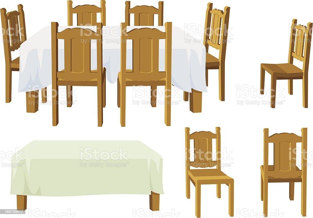 Dining room furniture stock vector art more images of