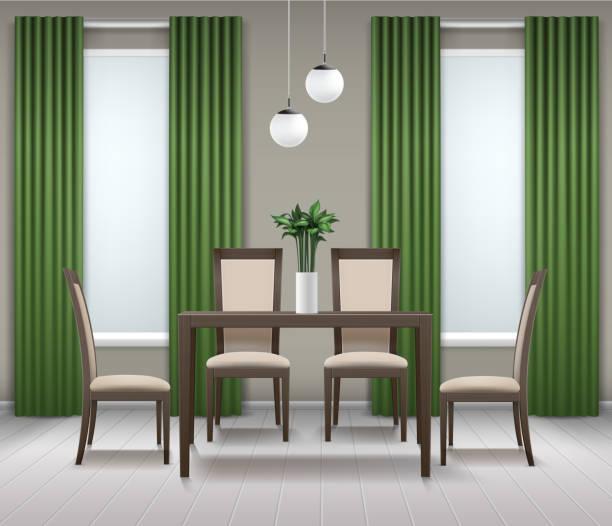 Best Dining Room Illustrations Royalty Free Vector