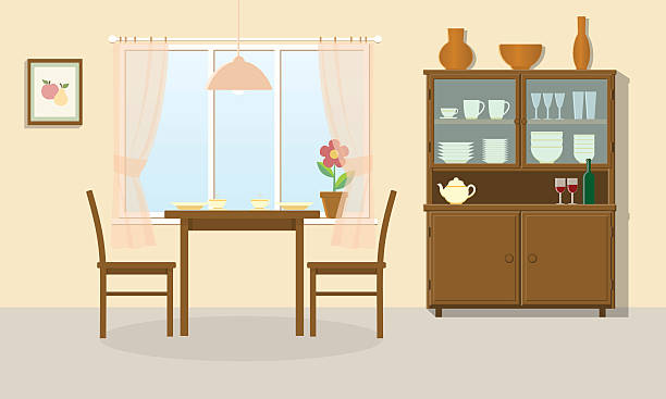 Dining Room Illustrations, Royalty-Free Vector Graphics ...