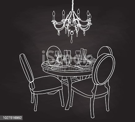 Chalkboard dining room set