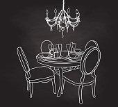Chalkboard dining room set