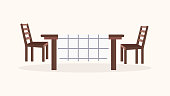 Dining table and chairs Icon