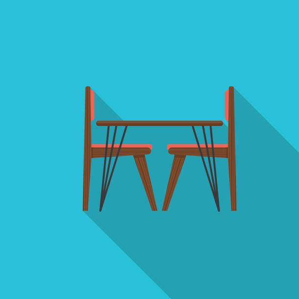 Dining Table Flat Design Kitchen Icon vector art illustration