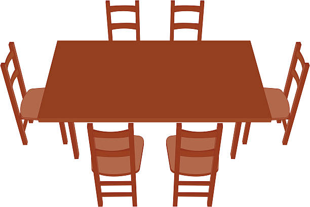 Dining Table Clip Art ~ Royalty free breakfast table clip art vector images