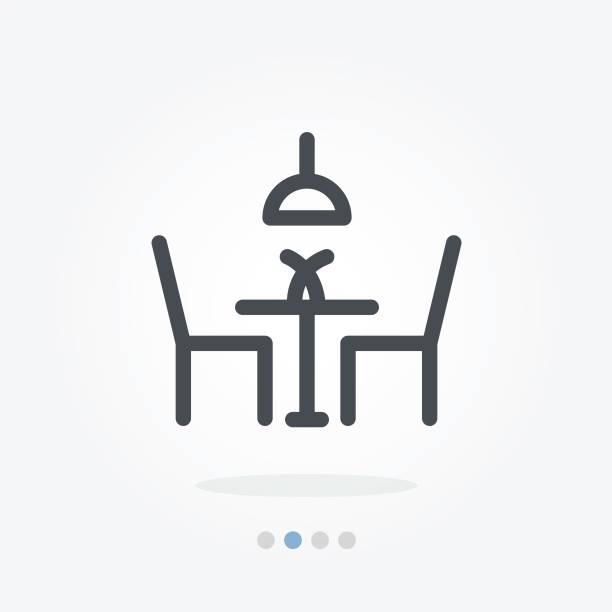 stockillustraties, clipart, cartoons en iconen met eettafel vector pictogram - breakfast table