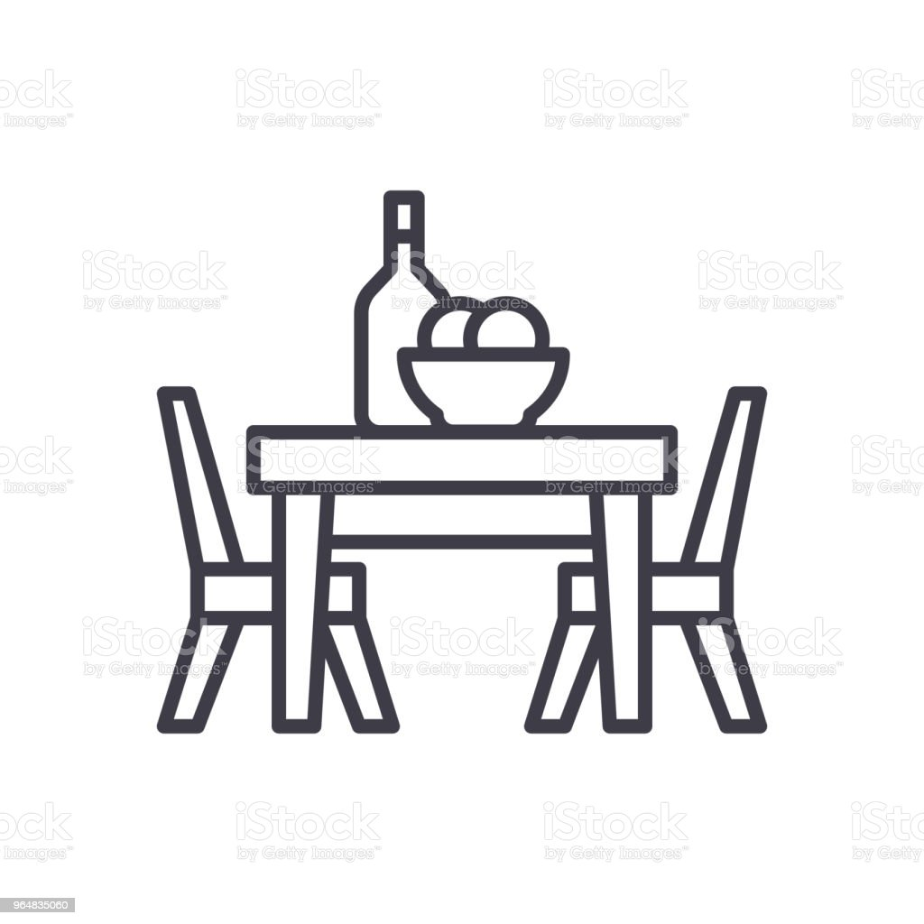 Dinner at the cafe black icon concept. Dinner at the cafe flat  vector symbol, sign, illustration. royalty-free dinner at the cafe black icon concept dinner at the cafe flat vector symbol sign illustration stock vector art & more images of breakfast