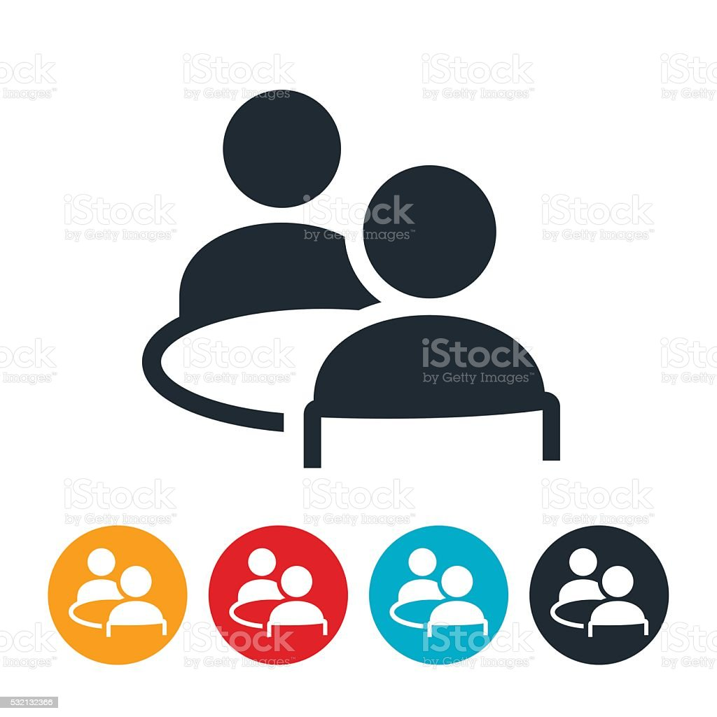 royalty free two people talking clip art vector images rh istockphoto com clip art talking on phone clipart walking