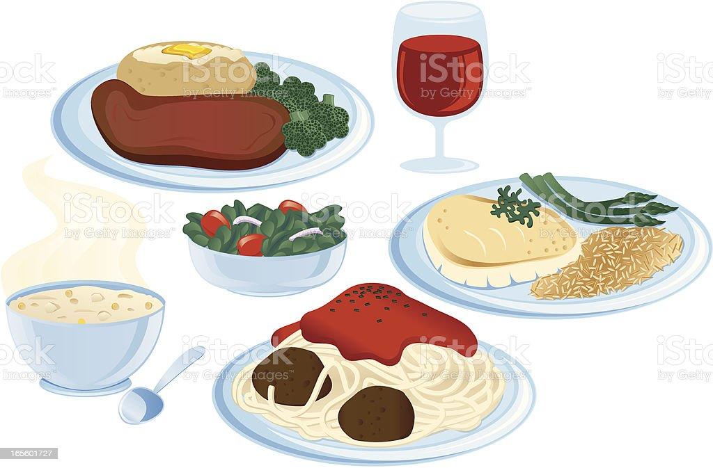 Dinner Items royalty-free stock vector art