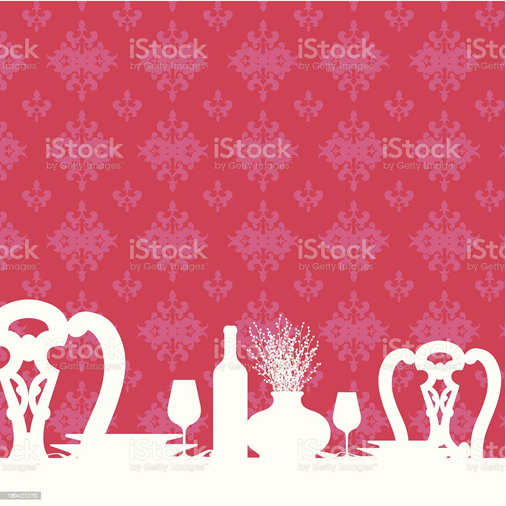 Dinner out royalty-free stock vector art