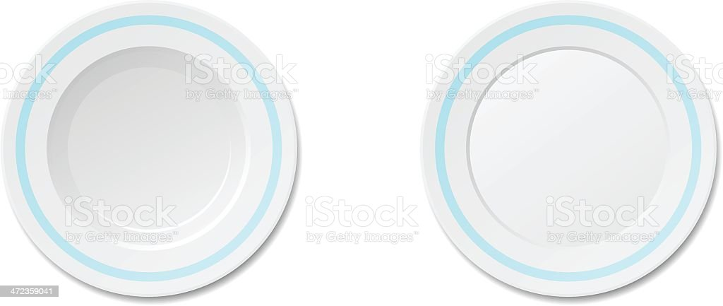 Dinner Plate royalty-free stock vector art