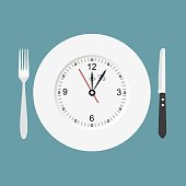 Dinner time. Cutlery Clock.