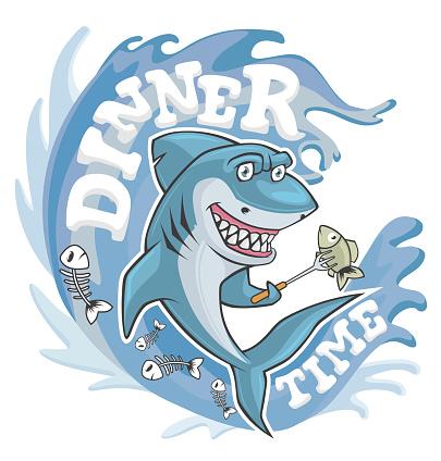 dinner time shark