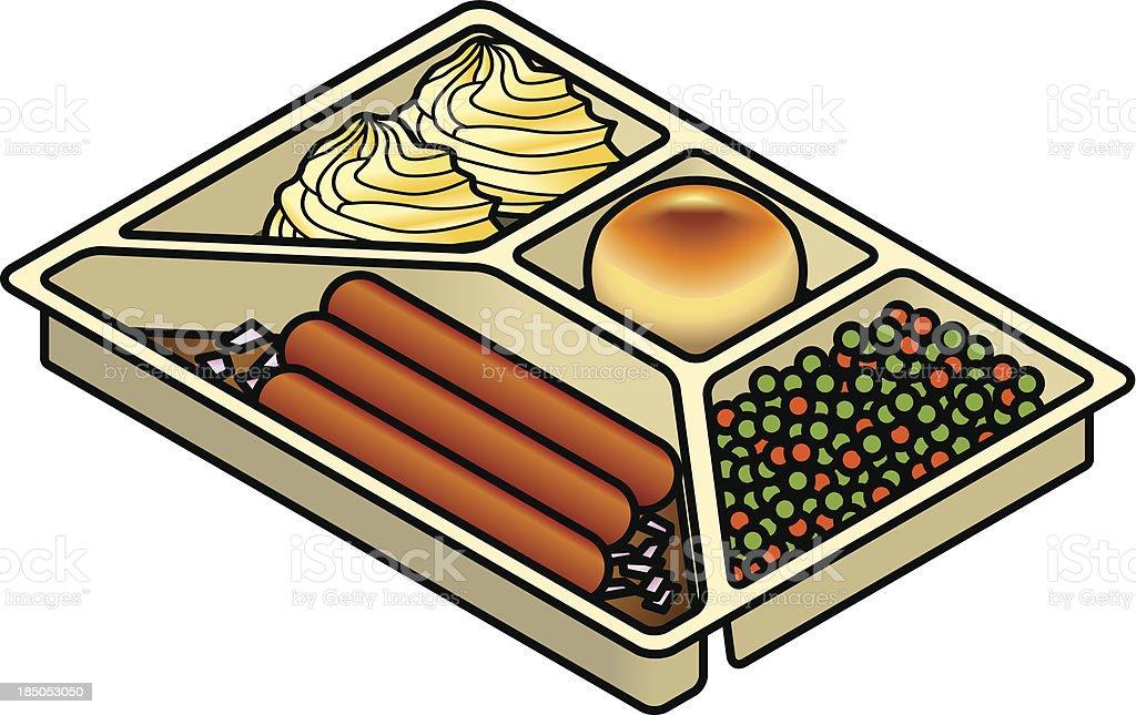 TV Dinner vector art illustration