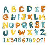 Dino alphabet numbers