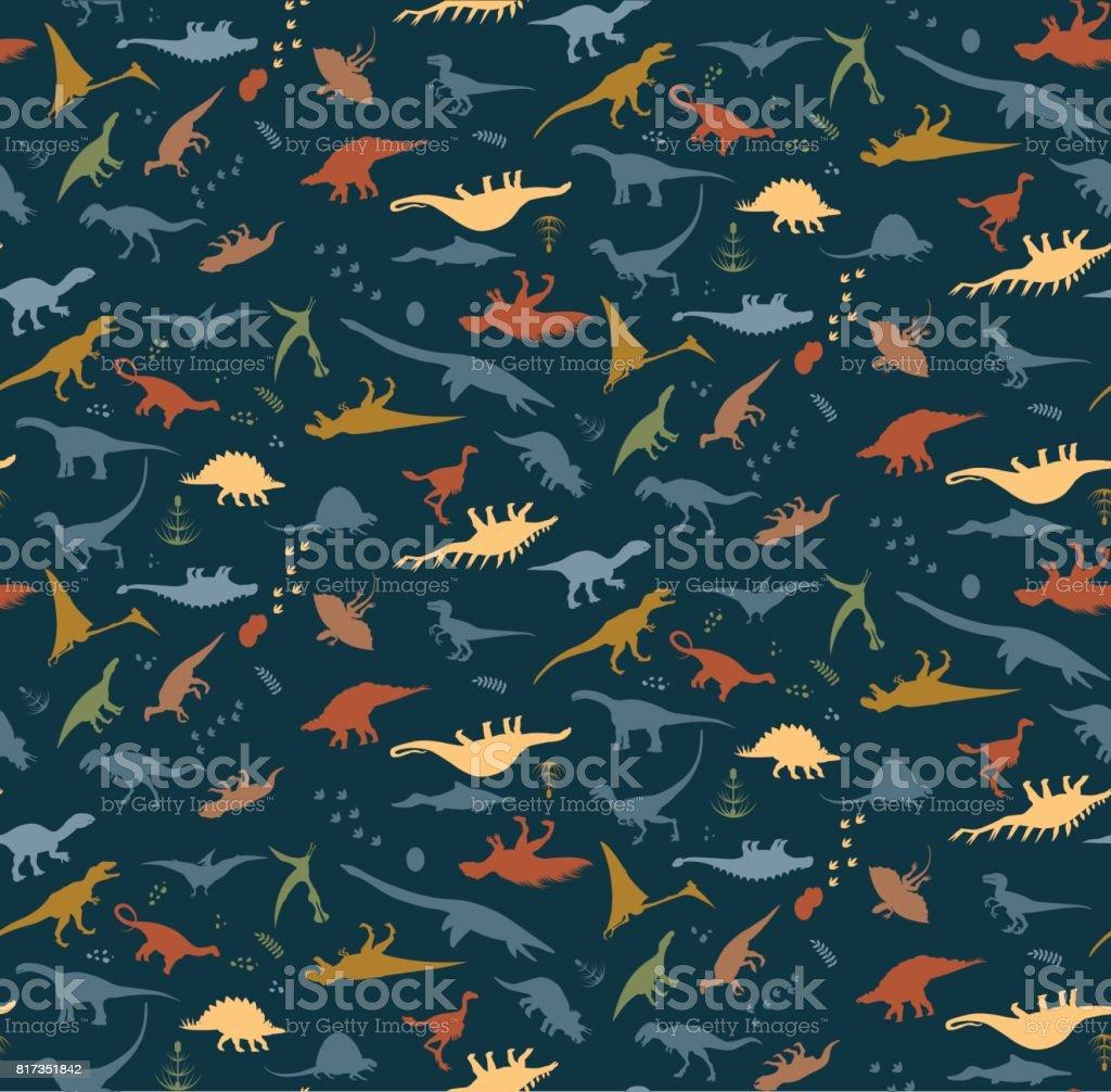 alfabeto de Dino - ilustração de arte em vetor