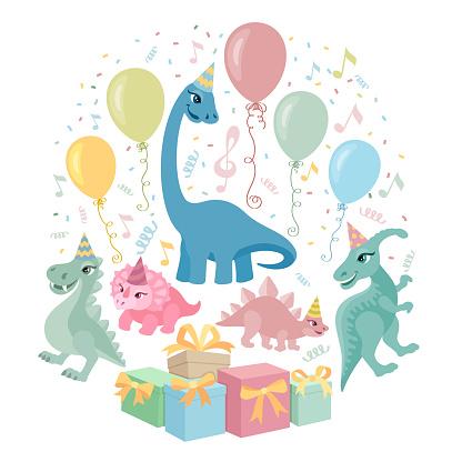 Dino Birthday Party Invitation