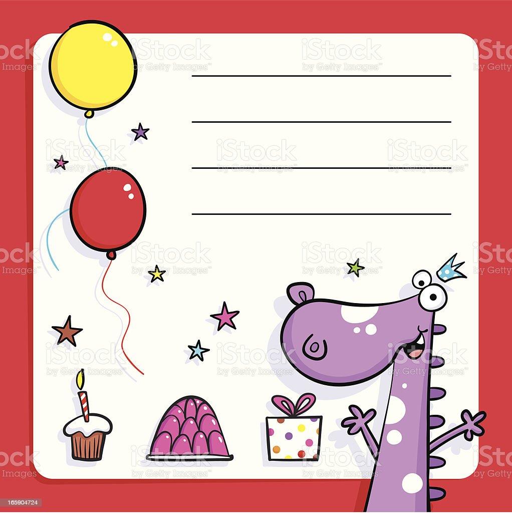 Dino Birthday party royalty-free stock vector art
