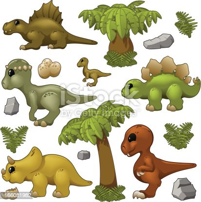 Cute baby dino colletion.