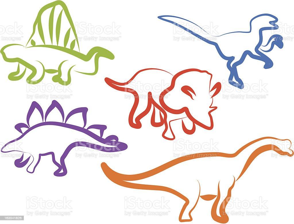 Dino icons royalty-free stock vector art