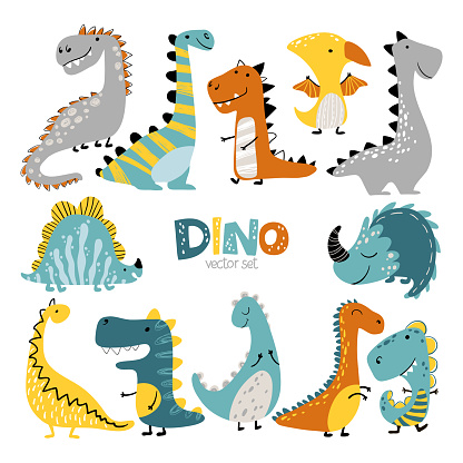 Dino set scandinavian