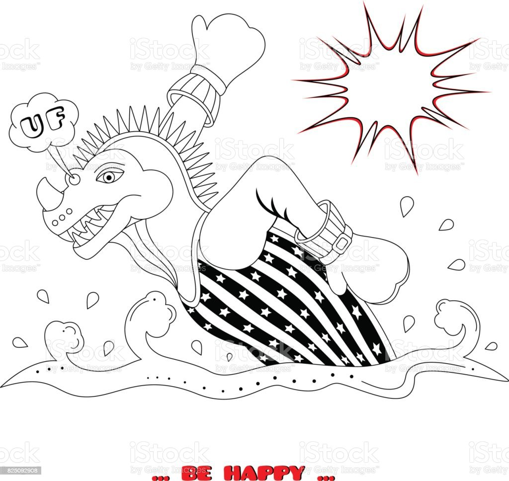Dino vector art illustration