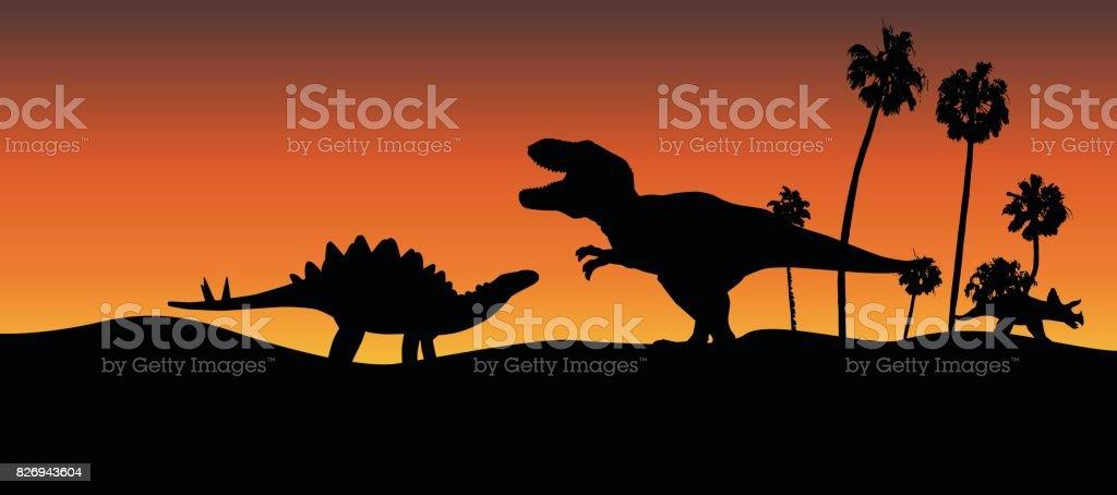 Dinosaur Adventure vector art illustration
