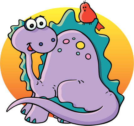 Dinosaur And Friend Stock Illustration - Download Image Now
