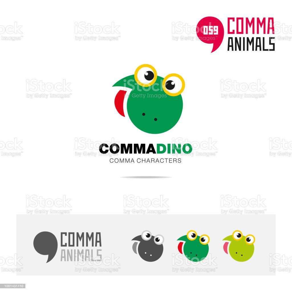 Ilustración de Plantilla De Icono Dinosaurio Animales Concepto ...