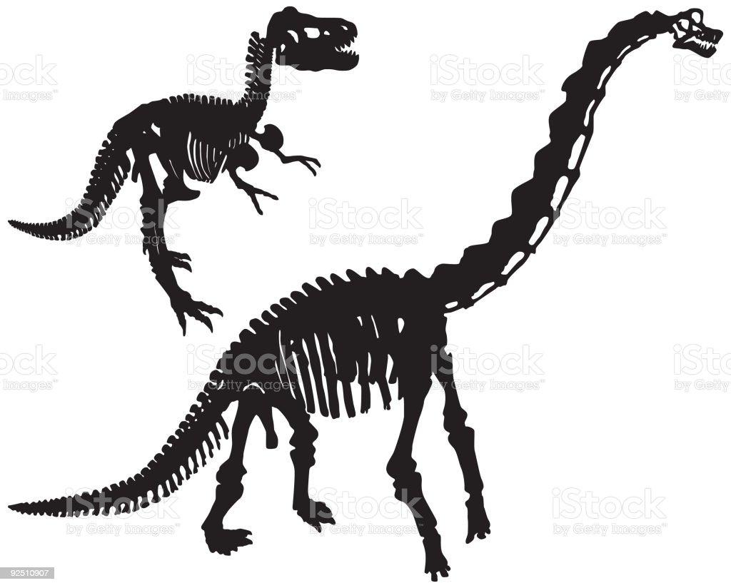 Dinosaur Bones (Vector) royalty-free stock vector art