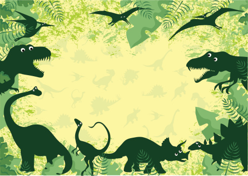 Dinosaur border background