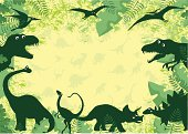 Dinosaur background - perfect for invitations etc.