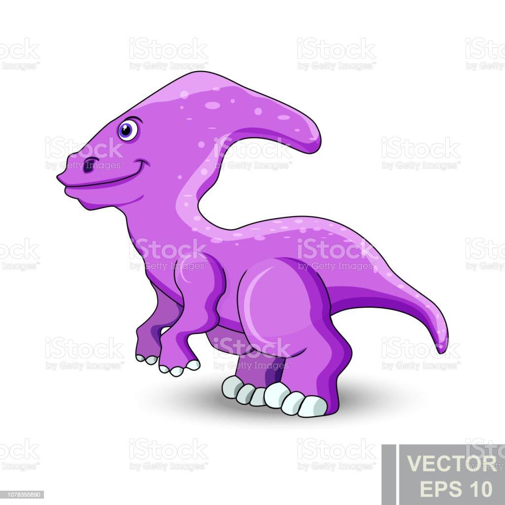 Vetores De Dinossauro Estilo De Desenho Animado Prehistoricos