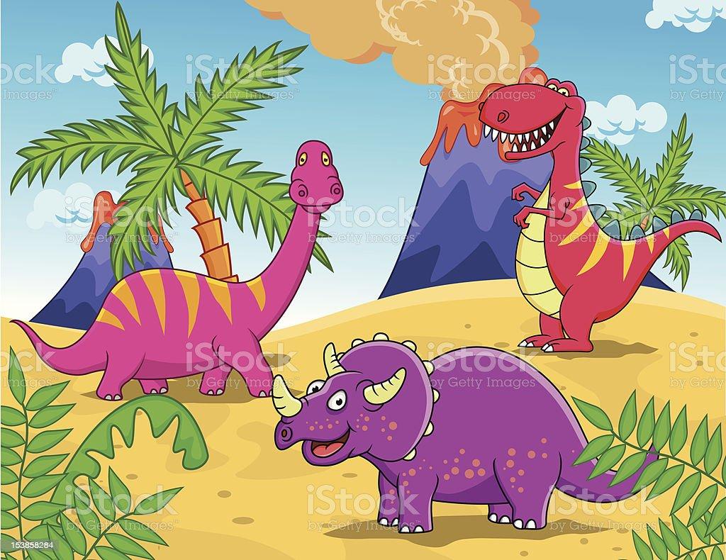 Dinosaur cartoon vector art illustration