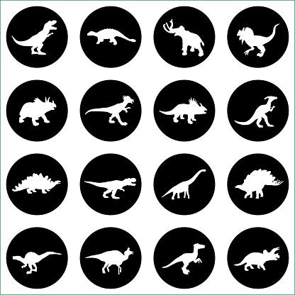Dinosaur Circle IconsDinosaur Circle Icons