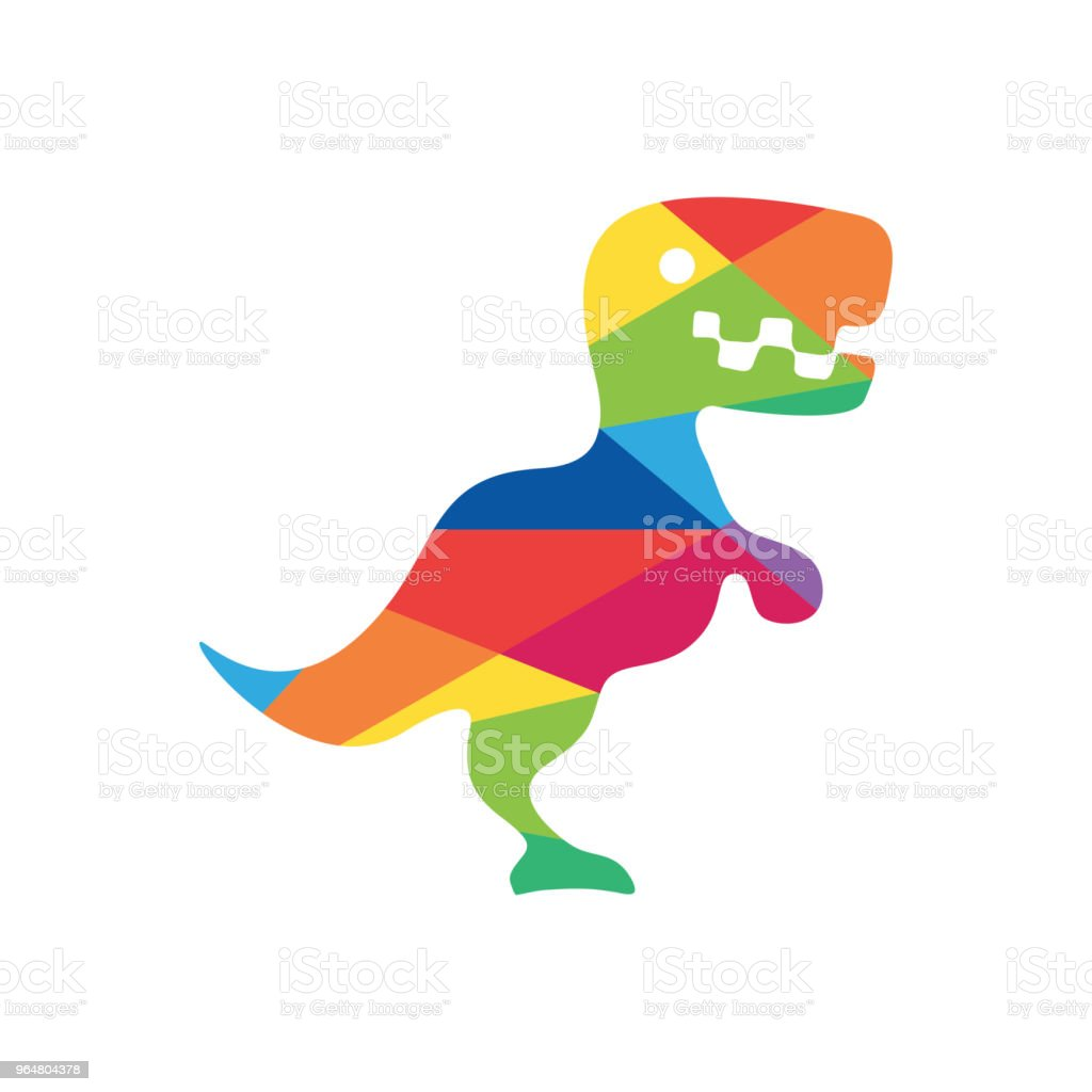 Dinosaur colorful logo design royalty-free dinosaur colorful logo design stock vector art & more images of ancient