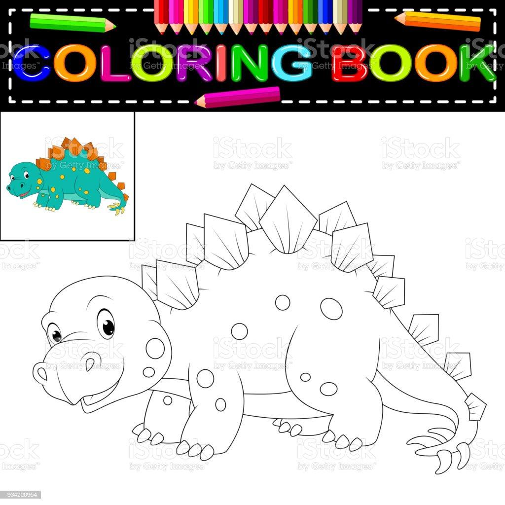 Ilustración de Libro De Colorear De Dinosaurios y más banco de ...