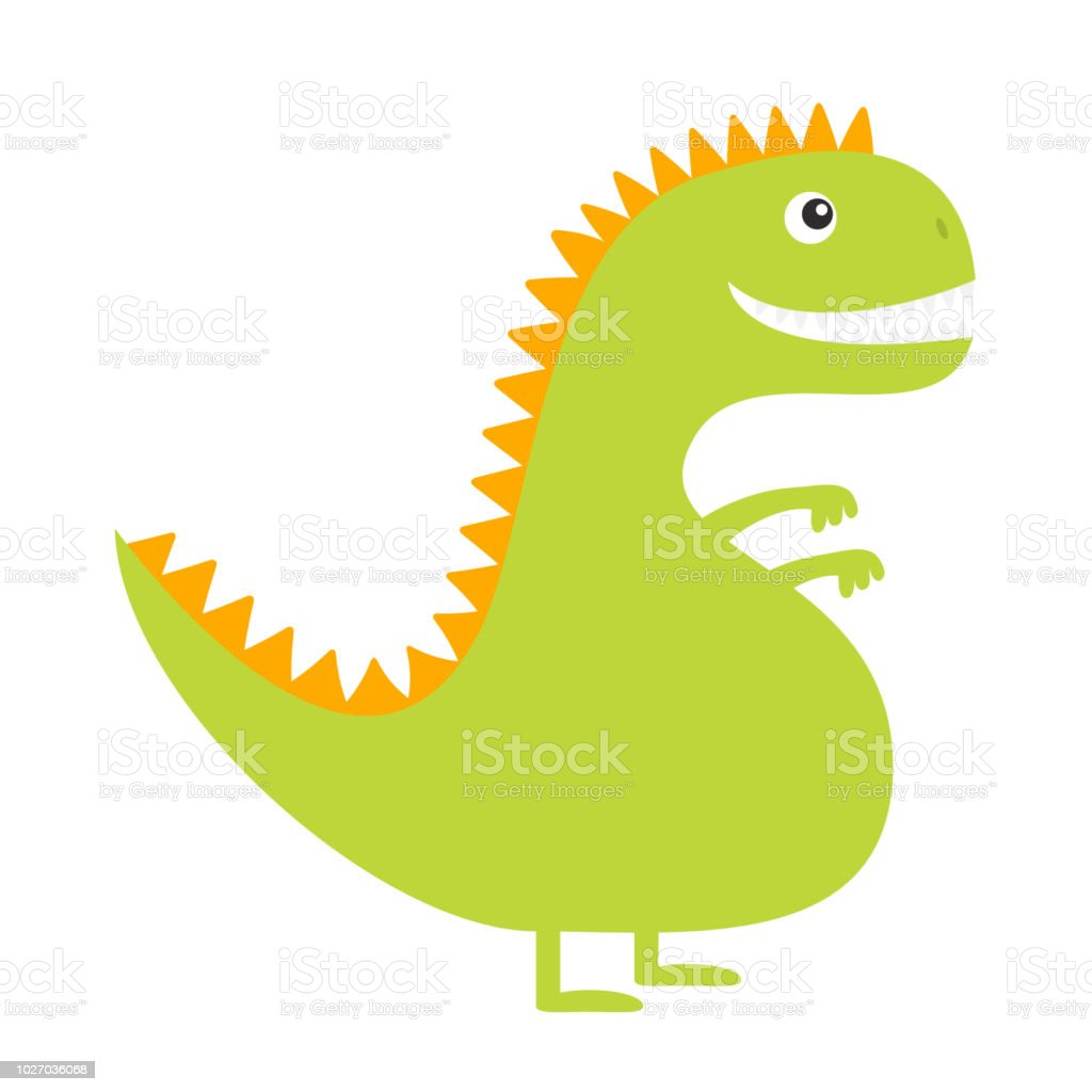 Image of: Png Dinosaur Cute Cartoon Funny Dino Baby Character Flat Design Green And Yellow Color Istock Dinosaur Cute Cartoon Funny Dino Baby Character Flat Design Green
