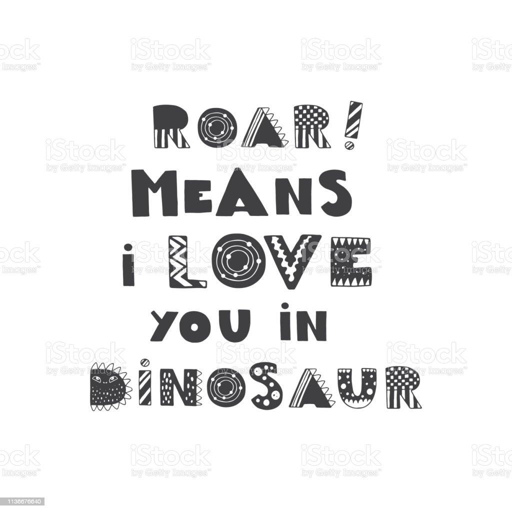 Dinosaur Design Lettering Stock Illustration - Download