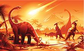 Detailed illustration of a prehistoric scene showing a meteor impact causing dinosaur extinction. EPS 10, image contains transparencies. Fully editable and labeled in layers.  Related images: [url=http://www.istockphoto.com/stock-illustration-19825230-dinosaurs.php][img]http://i.istockimg.com/file_thumbview_approve/19825230/1/stock-illustration-19825230-dinosaurs.jpg[/img][/url] [url=stock-illustration-22791249-mammoth-hunters.php][img]http://i.istockimg.com/file_thumbview_approve/22791249/1/stock-illustration-22791249-mammoth-hunters.jpg[/img][/url] [url=http://www.istockphoto.com/stock-illustration-18826364-dragon-scroll.php][img]http://i.istockimg.com/file_thumbview_approve/18826364/1/stock-illustration-18826364-dragon-scroll.jpg[/img][/url] [url=http://www.istockphoto.com/file_closeup.php?id=16988758] [img]http://www.istockphoto.com/file_thumbview_approve/16988758/1/istockphoto_16988758-sitting-green-dragon.jpg[/img][/url] [url=http://www.istockphoto.com/file_closeup.php?id=16885725][img]http://www.istockphoto.com/file_thumbview_approve/16885725/1/istockphoto_16885725-dragon-barbecue.jpg[/img][/url] [url=/file_closeup.php?id=16885698] [img]http://www.istockphoto.com/file_thumbview_approve/16885698/1/istockphoto_16885698-flying-red-dragon.jpg[/img][/url]    [url=http://www.istockphoto.com/search/lightbox/11964366#194dde71][IMG]http://dl.dropbox.com/u/77668653/kbeis_animals-banner-1.jpg[/IMG][/url] [url=http://www.istockphoto.com/search/lightbox/10846611#16f02e28][IMG]http://dl.dropbox.com/u/77668653/kbeis_portfolio-banner-1.jpg[/IMG][/url]