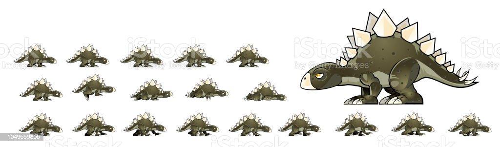 Dinosaur Game Sprites Stock Illustration - Download Image