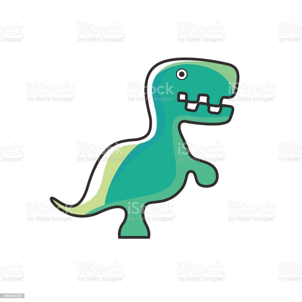 Dinosaur green logo design royalty-free dinosaur green logo design stock vector art & more images of ancient