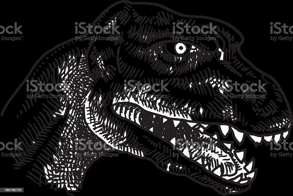 Dinosaur head vector art illustration