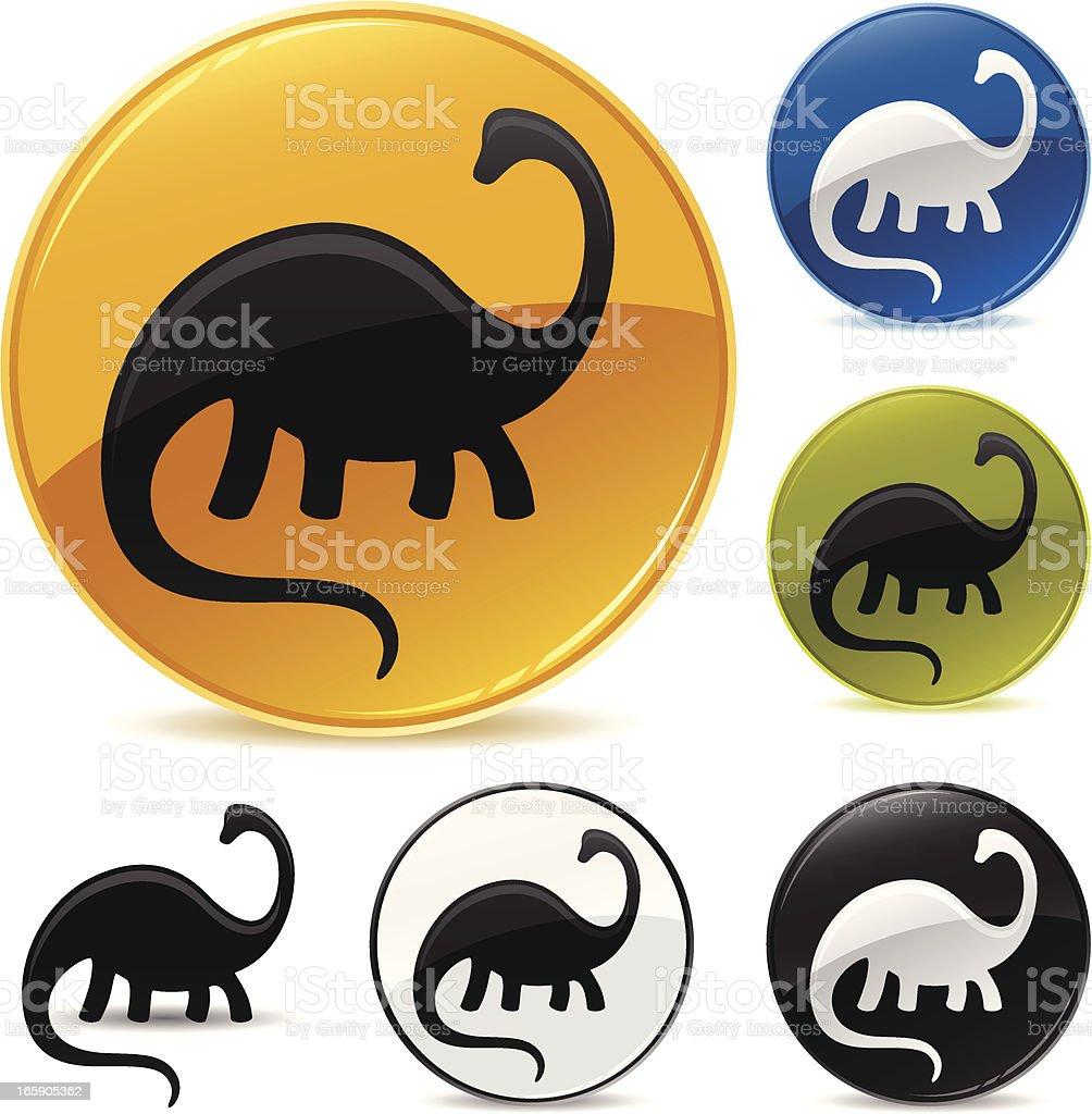 Dinosaur Icon royalty-free stock vector art