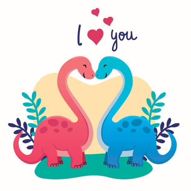 Download Dinosaur Valentines Illustrations, Royalty-Free Vector ...