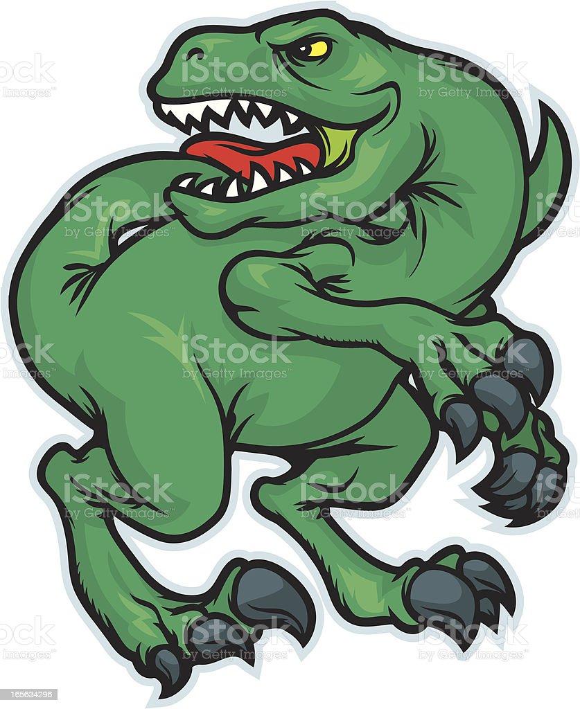 Dinosaur Mascot vector art illustration